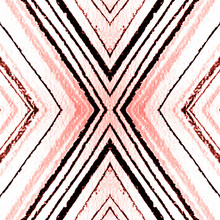 Grunge Stripes. Geometric Seamless Pattern.