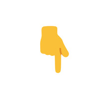 Index Finger Pointing Down Emoji Gesture Vector Isolated Icon Illustration. Index Finger Pointing Down Gesture Icon