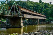 The Harpersfield Covered Bridge In Northeastern Ohio Is Over 100 Years Old.
