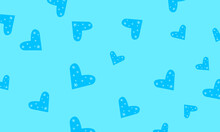 Festive Blue Wallpaper Heart Shaped Patterns With Snowflakes