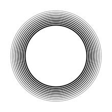 Geometric Circular Spiral, Swirl And Twirl. Cochlear, Vortex, Volute Shape