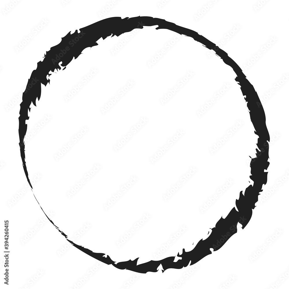 Grungy circle blob, blotch vector - obrazy, fototapety, plakaty