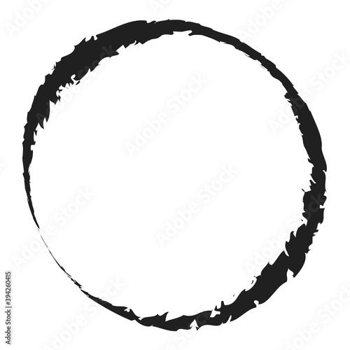 Fototapeta Grungy circle blob, blotch vector obraz na płótnie