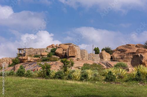 Tablou Canvas Hemakatu hillock where Sasivekalu Ganesha resides, Krishnapura, Karnataka, India