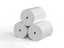 Heap Of White Paper Rolls