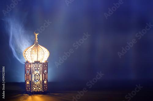 Photographie Arabic lantern, Ramadan kareem background