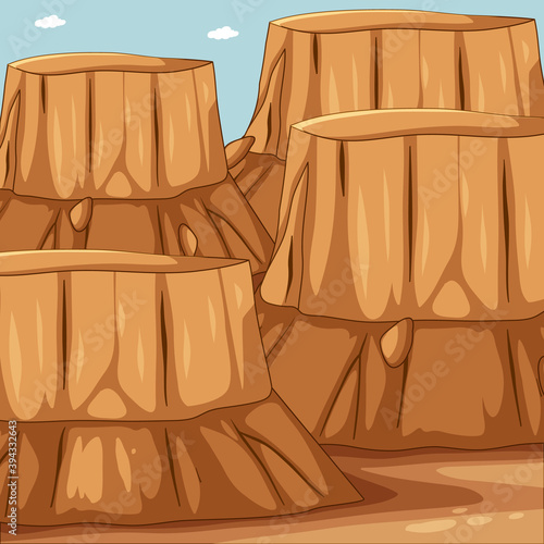 Blank big canyon nature scene
