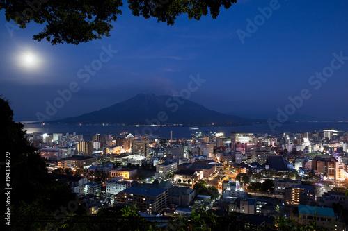 Fotografie, Obraz 城山展望所から見る鹿児島市の夜景と桜島