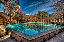 Water Gardens In The City Of Fort Worth. In Fort Worth Texas USA