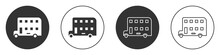 Black Double Decker Bus Icon I...