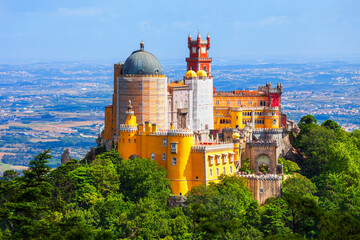 Pena Palace in Sintra town, Portugal