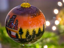 Christmas Ball On A Christmas Tree From Singapore