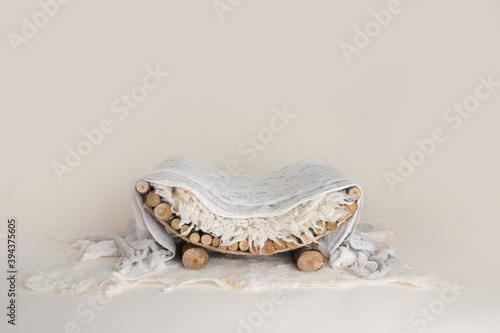 Newborn digital backdrop soft bed for baby with white background Tapéta, Fotótapéta