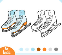 Coloring Book For Kids, Figure Skating