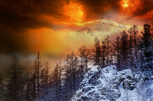 Colorful Fire Storm Dramatic S...