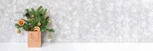 Winter Festive Bouquet Of Spru...