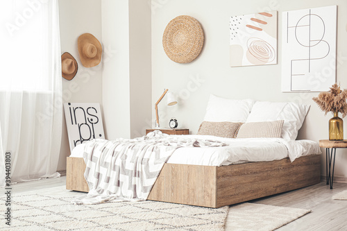 Fototapeta Interior of modern stylish bedroom obraz