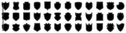 Canvas-taulu Set different shields icons, protect signs, collection shields button – stock ve