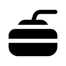 Curling Rock, Outdoor Sports In Editable Style