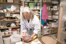 Woman In Pottery Workshop, Swe...