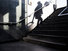 Shadow Of Person Walking Up Stairs, Denmark