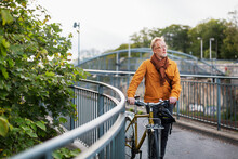 Mature Man With Bicycle, Sweden