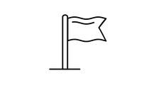 Flag Line Icon On The Alpha Channel