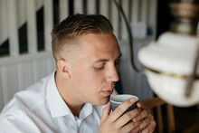 Man With Coffee Cup, Sweden