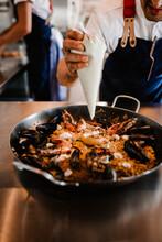 Chef Preparing Paella, Sweden