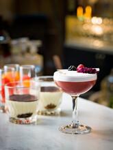 Cocktail On Bar Counter, Sweden