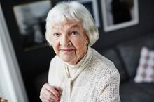 Senior Woman Looking At Camera...