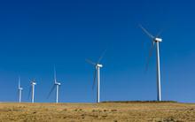 Wind Turbine In The Wind In An...