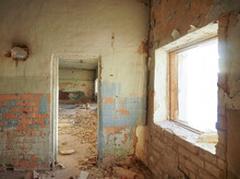 Abandoned Building With Door A...