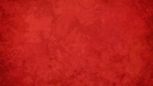 Red Christmas Background With Old Texture, Red Painted Vintage Grunge And Marbled Painting, Elegant Textured Paper
