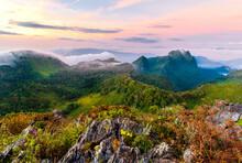 Doi Luang Chiang Dao Chiang Mai Thailand. Beautiful Sun Rise
