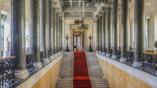 Elegant Architecture Of Winter Palace In Saint Petersburg