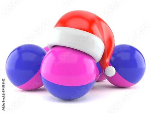Foto Paintball balls with santa hat