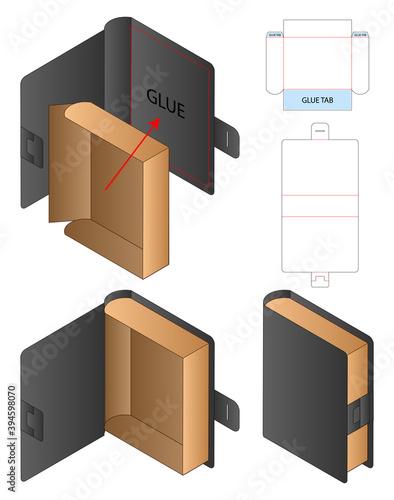 Fototapeta Box packaging die cut template design. 3d mock-up obraz