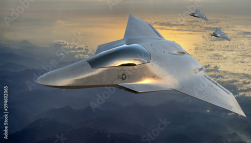 Fotografia vision of the American 6th generation fighter