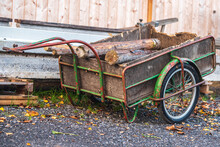 Old Cart Used In A Farm To Car...