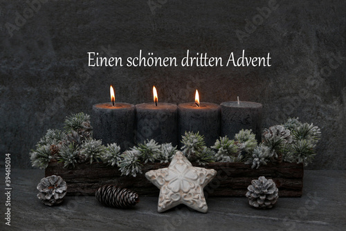 Dritter Advent Canvas Print