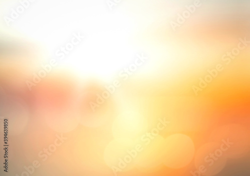Blur sun light with orange and yellow sunset beach texture background