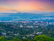 canvas print picture - aerial view of Nelspruit city Mpumalanga South Africa