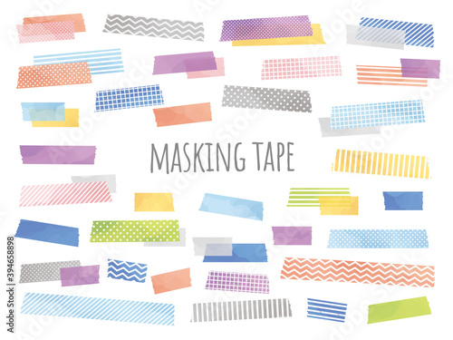 Obraz 水彩風のマスキングテープのイラスト - fototapety do salonu