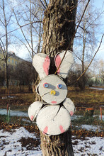 Wood Carving Funny  Rabbit With Funny Face
