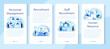 Personnel management mobile application banner set. Business recruitment