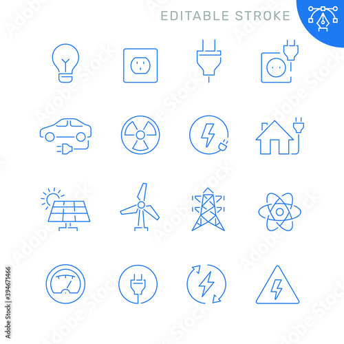 Fotografia Energy and electricity related icons