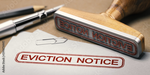Obraz Landlord tenant law. Eviction notice. - fototapety do salonu