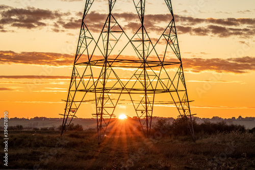 Fotografia Sunset through pylon