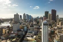Manila, Philippines - The Skyline Of Northern Manila. New Residential Condos Soar In Binondo Area.